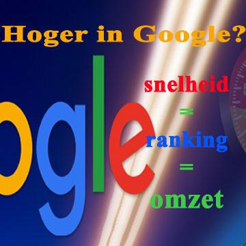 Hoger in Google - snelheid is ranking is omzet